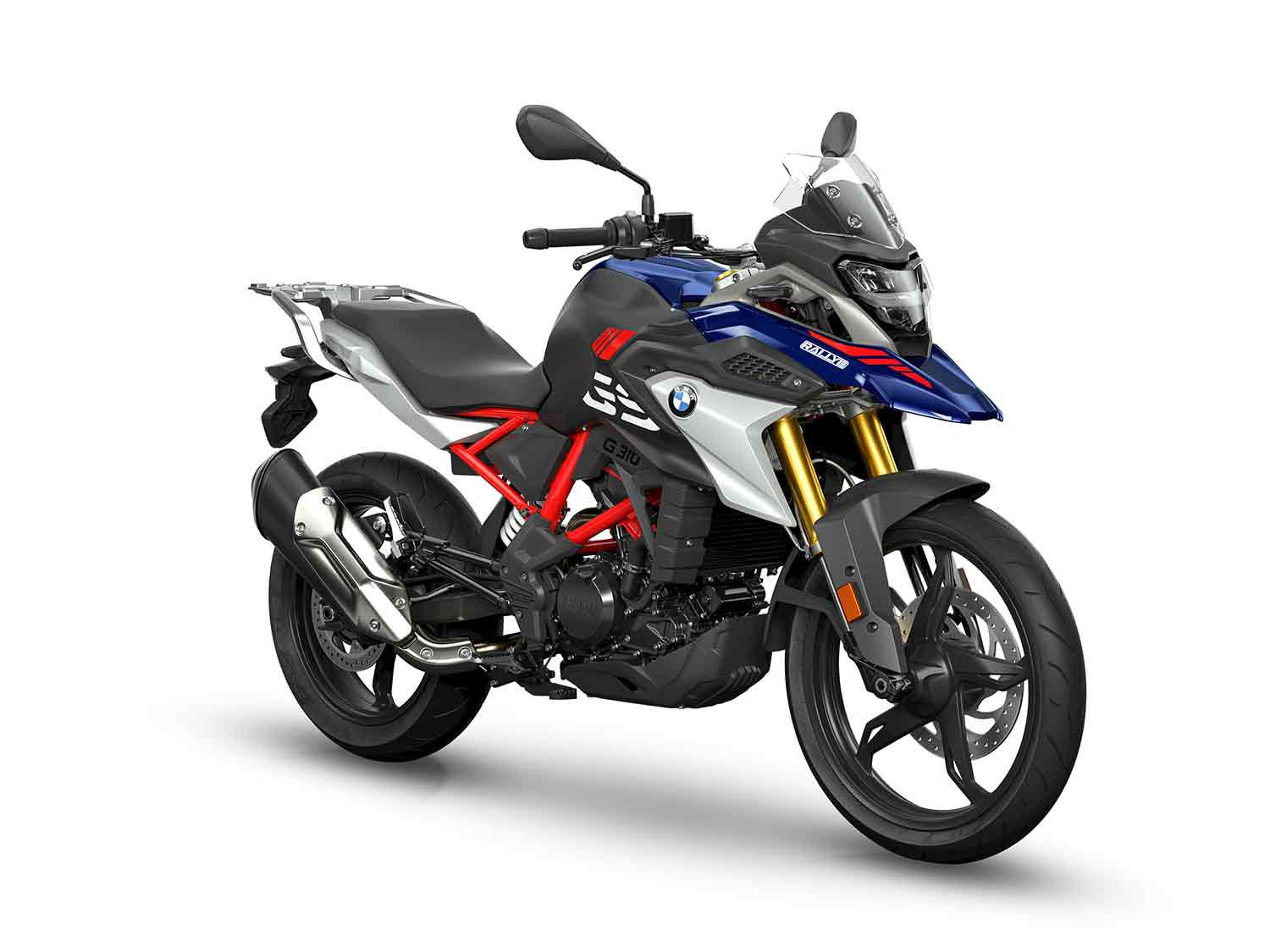 2021 BMW G 310 GS in the Rally colorway.