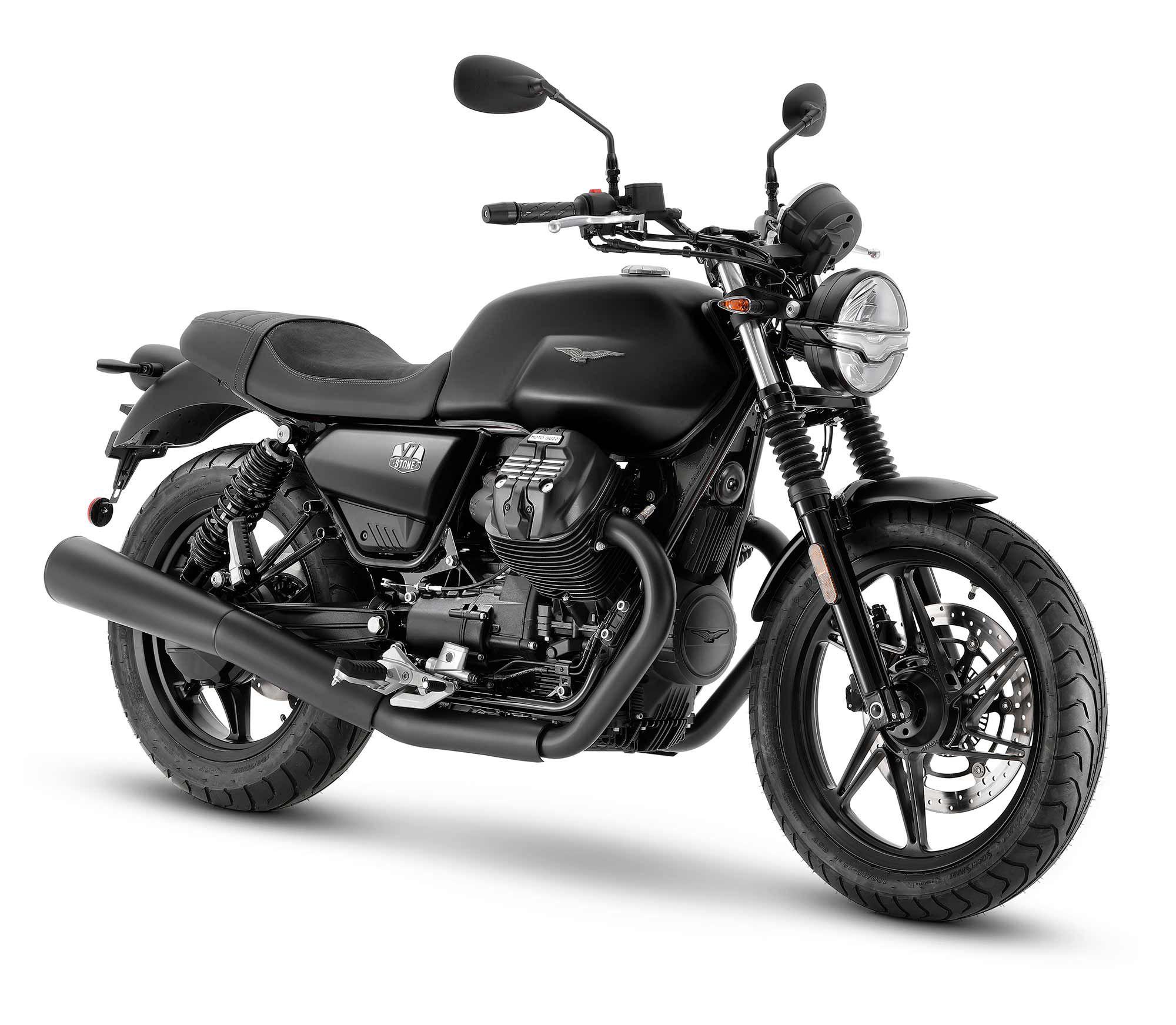2021 Moto Guzzi V7 Stone (Nero Ravido).
