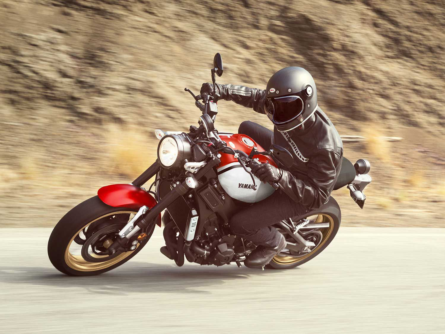 """Three traction control modes help keep the XSR900 hooked up, though one of the modes is simply """"Off."""""""