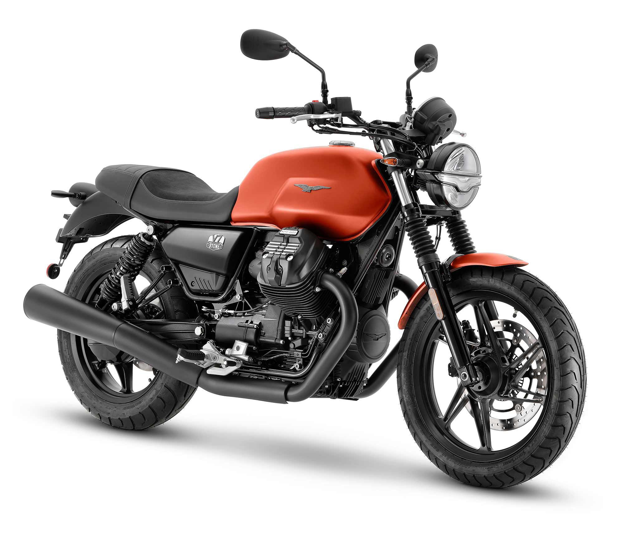 2021 Moto Guzzi V7 Stone (Arancione Rame).