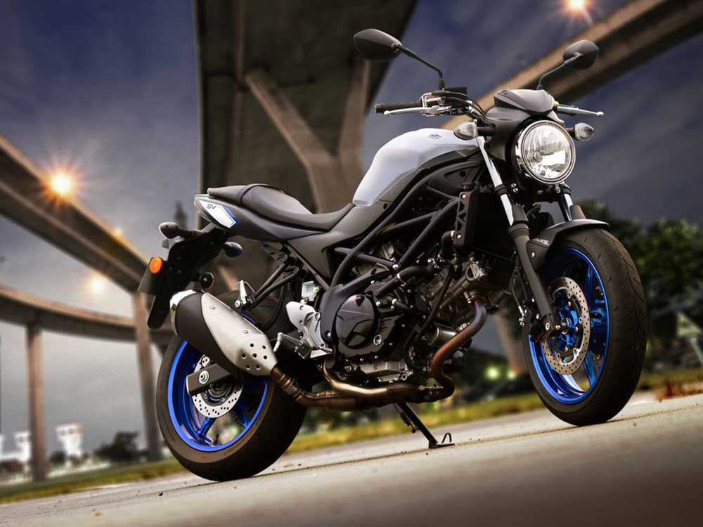For new road riders, or returning riders, that have a little more practical skill, the Suzuki SV650 will be a lot of fun.