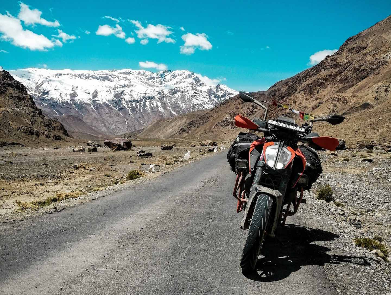Nordindien im Himalaya auf einer KTM Duke.