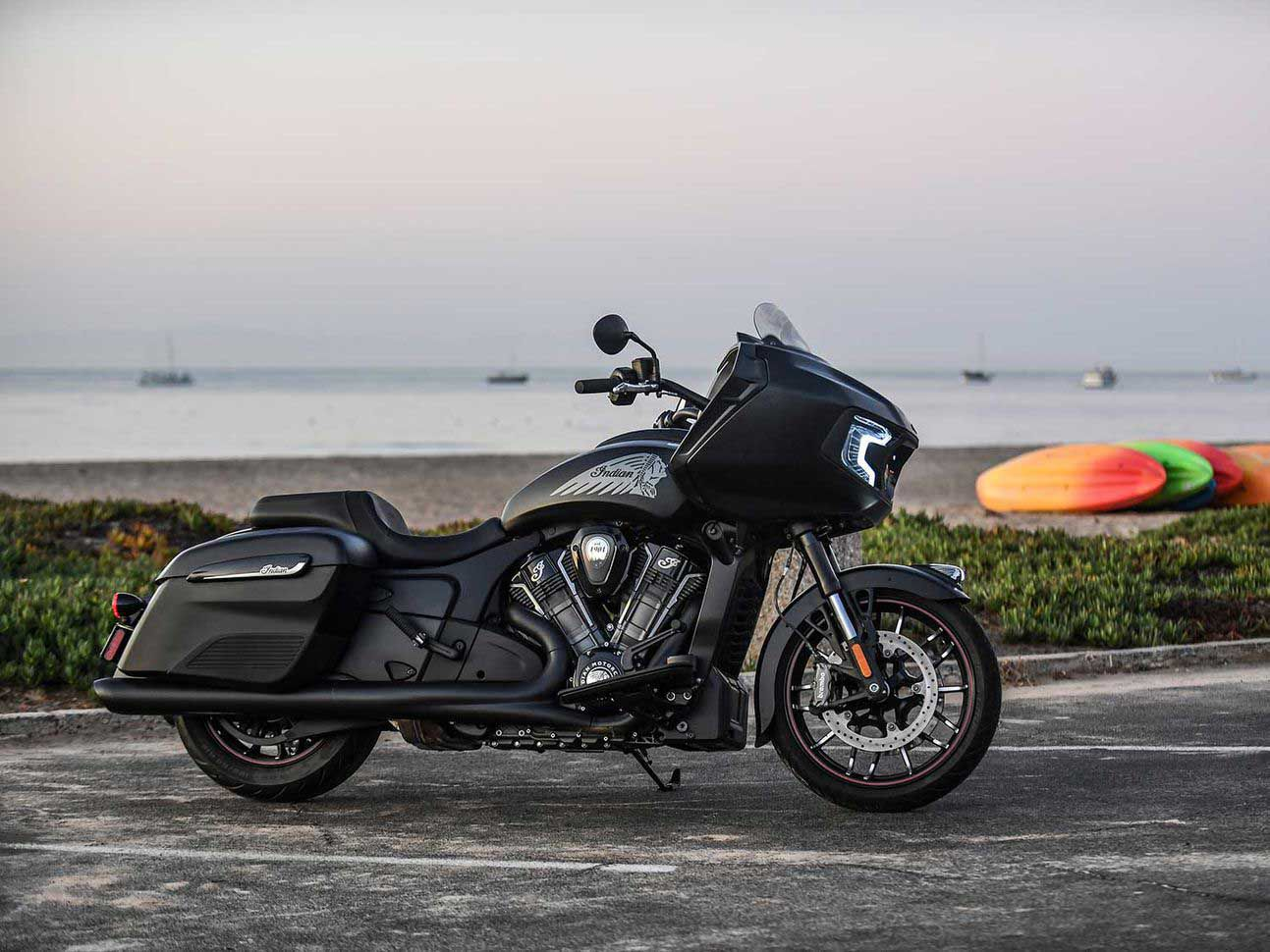 Got to have a cruiser around for mellow days and longer rides, and my ideal would be the Indian Motorcycle Challenger Dark Horse.