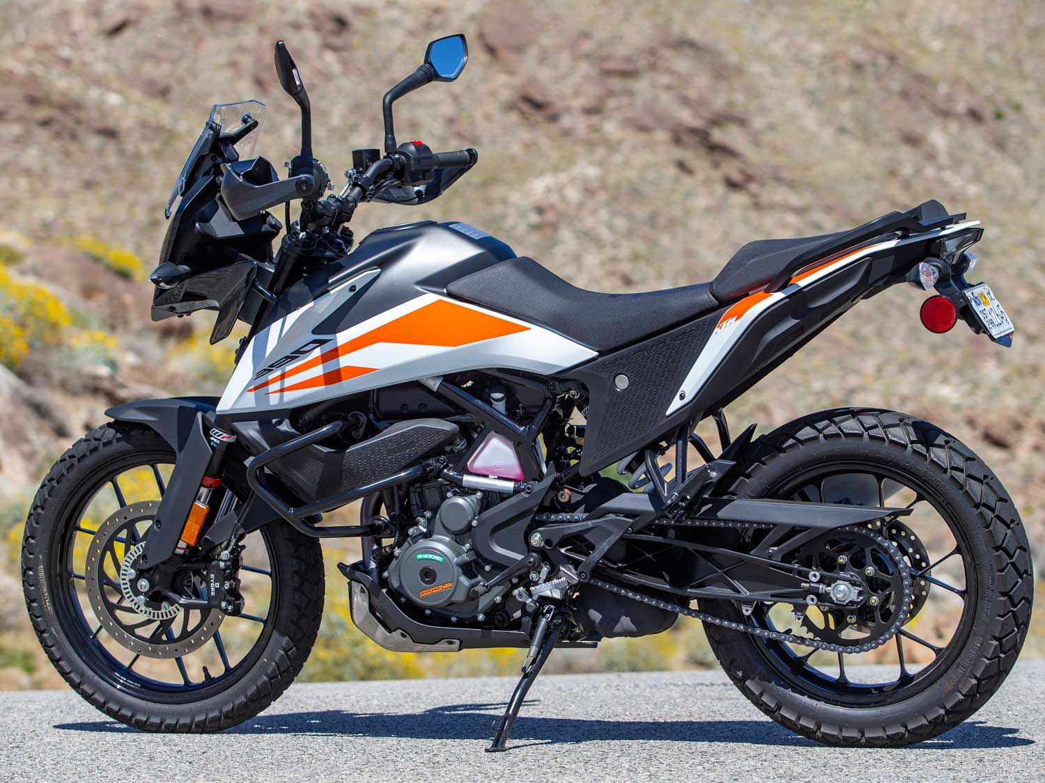 The 390 Adventure looks like a carbon copy of its 790 Adventure big brother.
