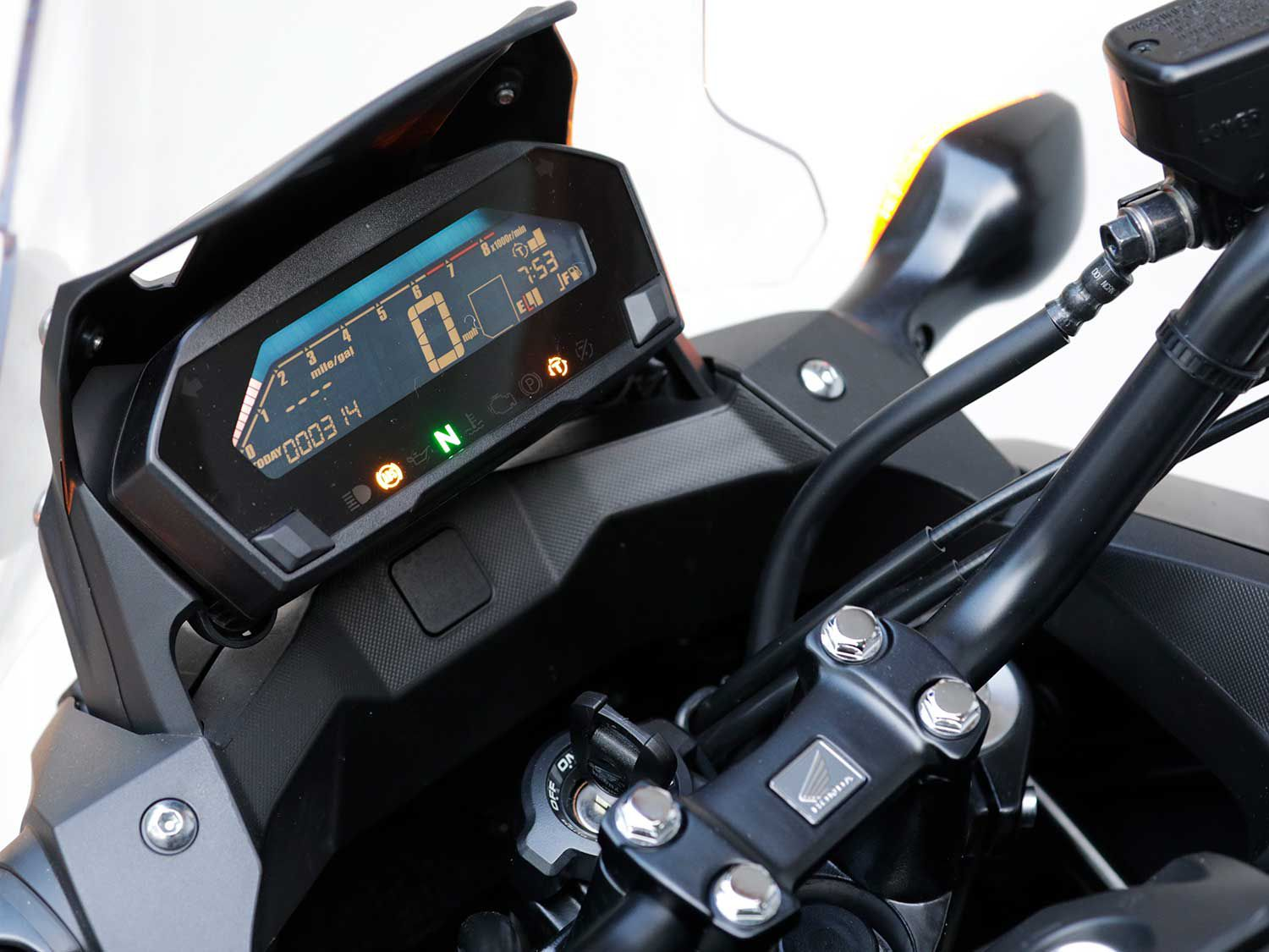 Instrumentation is a tad small, however it is easy to read while riding and includes all of the necessary information needed during rides.
