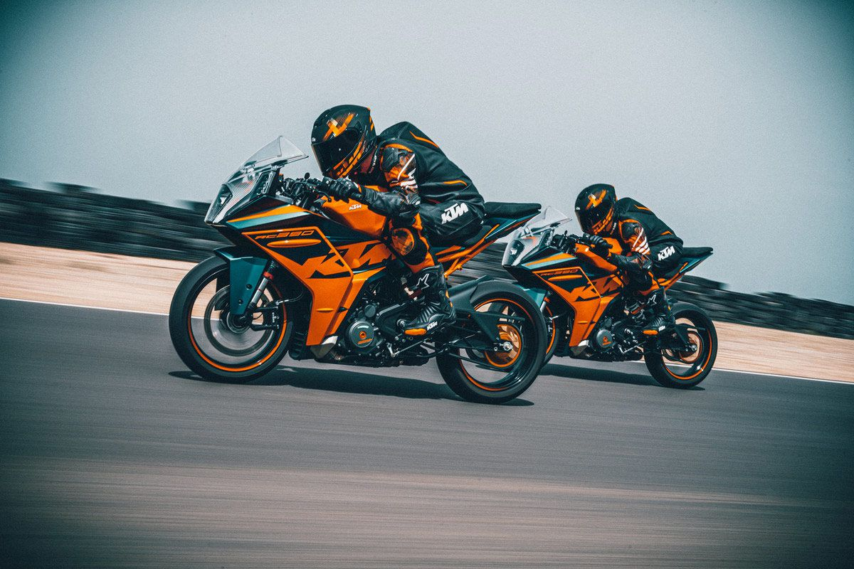 New bodywork is meant to give the RC 390 a racier profile and more aerodynamic efficiency.