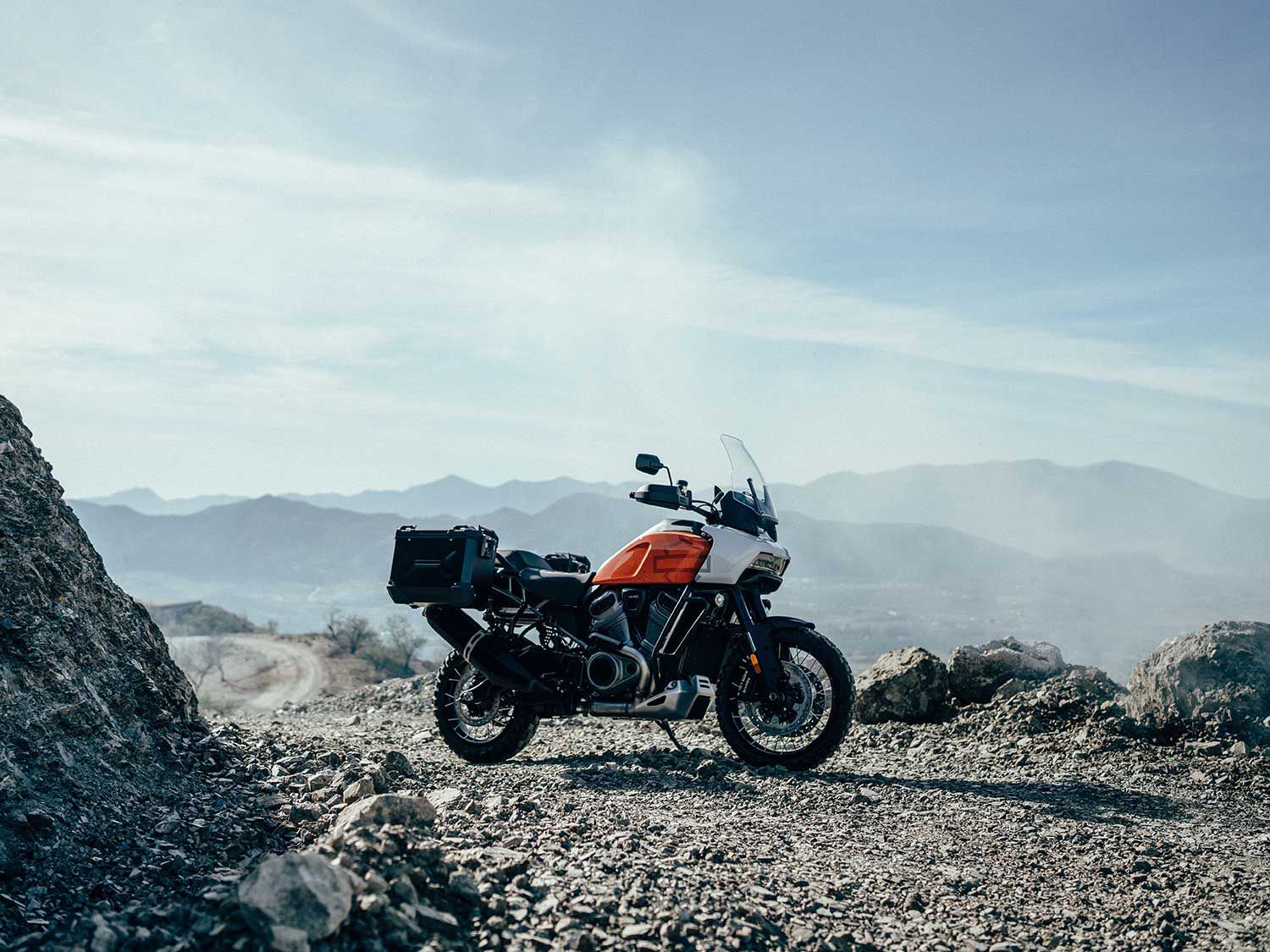 <h2>2021 Harley-Davidson Pan America</h2> </br> Talk about bringing the brand into another category, the 2021 Pan America is Harley-Davidson's adventure-touring model, and is set to launch late 2020.