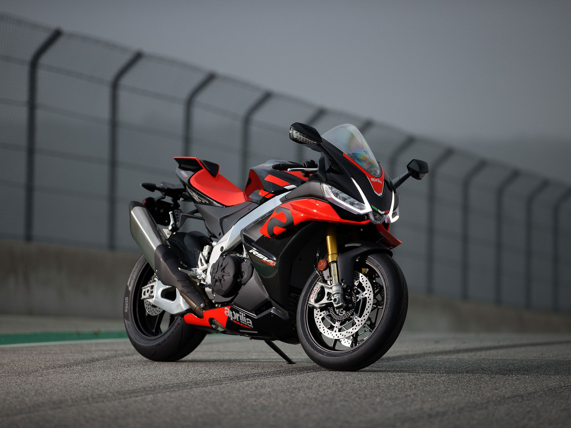 As opposed to radial platform changes, Aprilia engineers methodically hone the performance of its RSV4 Factory superbike. The '21 model features new body panels and LED lighting.