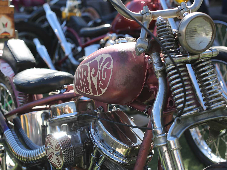 @howlinwolftattoo rode down from Whittier on the War Pig chopper.