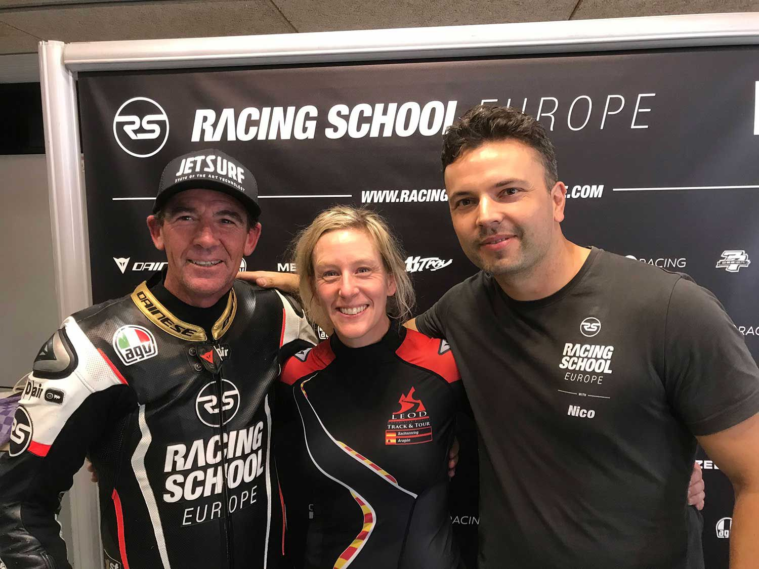 Corser, Hurst, and her instructor Nico Dmyszewicz at the end of the final day. Certificates and pictures with Troy are given to all students.