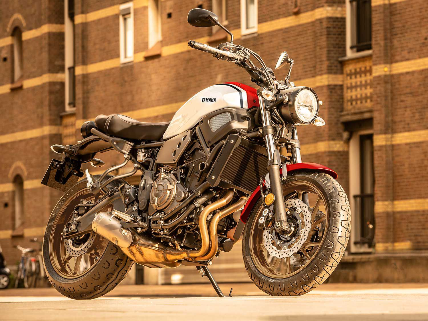 The 2020 Yamaha XSR700 recalls the character of the classic XS model Yamahas but packs all the tech today's riders want.