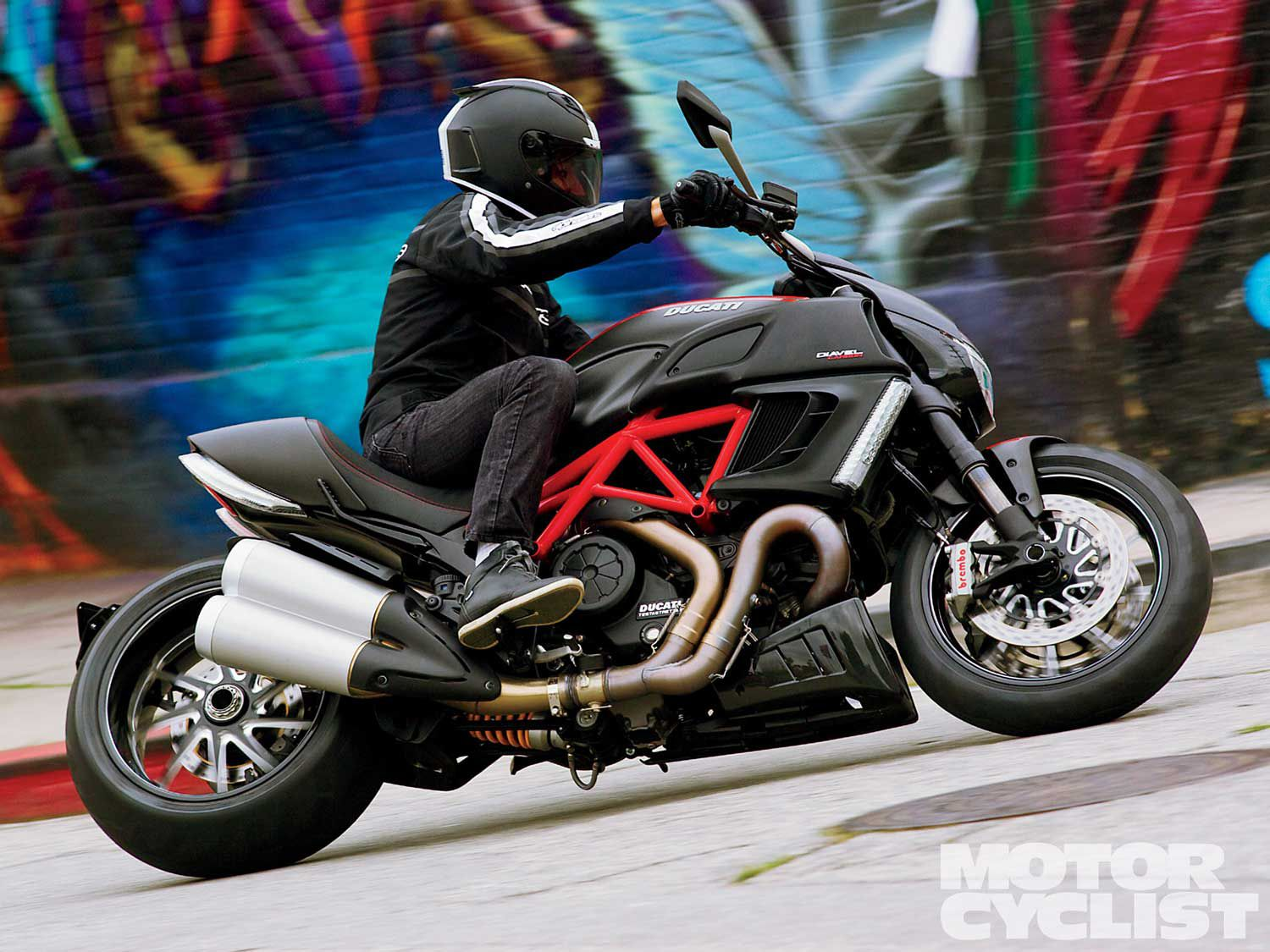 Our favorite cruisers aren't afraid of corners, like the butch Ducati Diavel.
