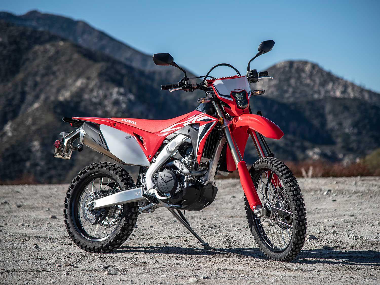 "<a  href=""https://www.motorcyclistonline.com/story/reviews/2020-honda-crf450l-review/"">2020 Honda CRF450L Review</a>"