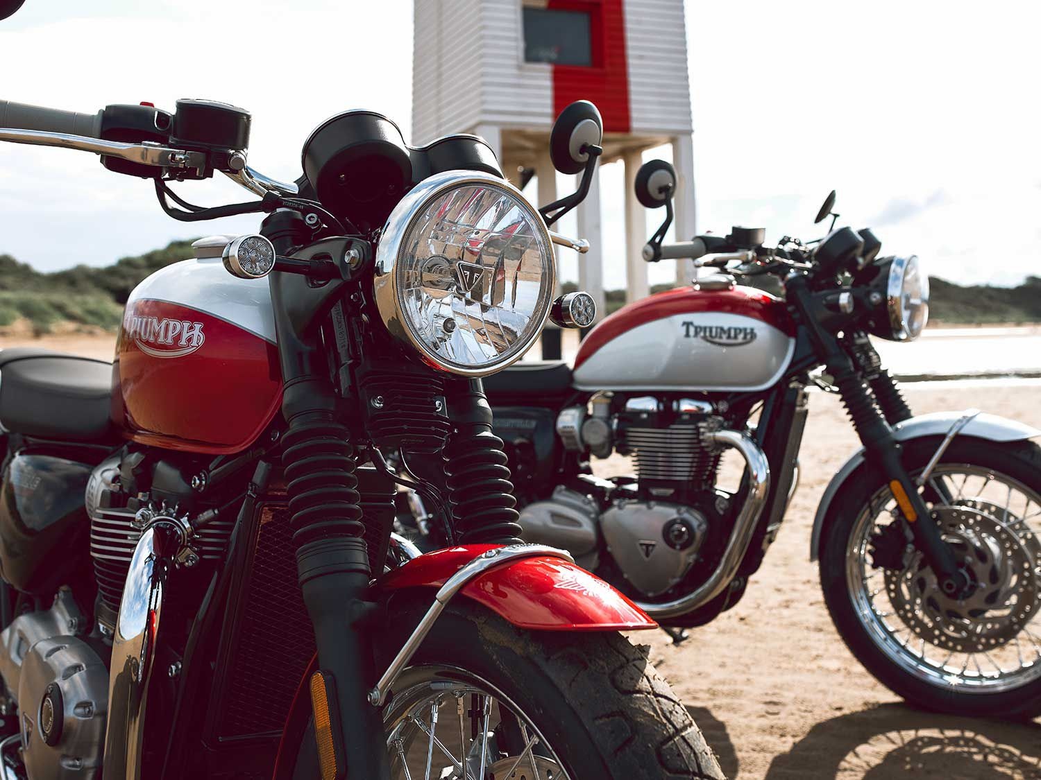 <h2>2020 Triumph Bonneville T120 and T100 Bud Ekins Special Editions</h2> </br> Motocross and desert racer/Hollywood stuntman Bud Ekins is celebrated on the 2020 Triumph Bonneville T120 and T100 Bud Ekins special editions.