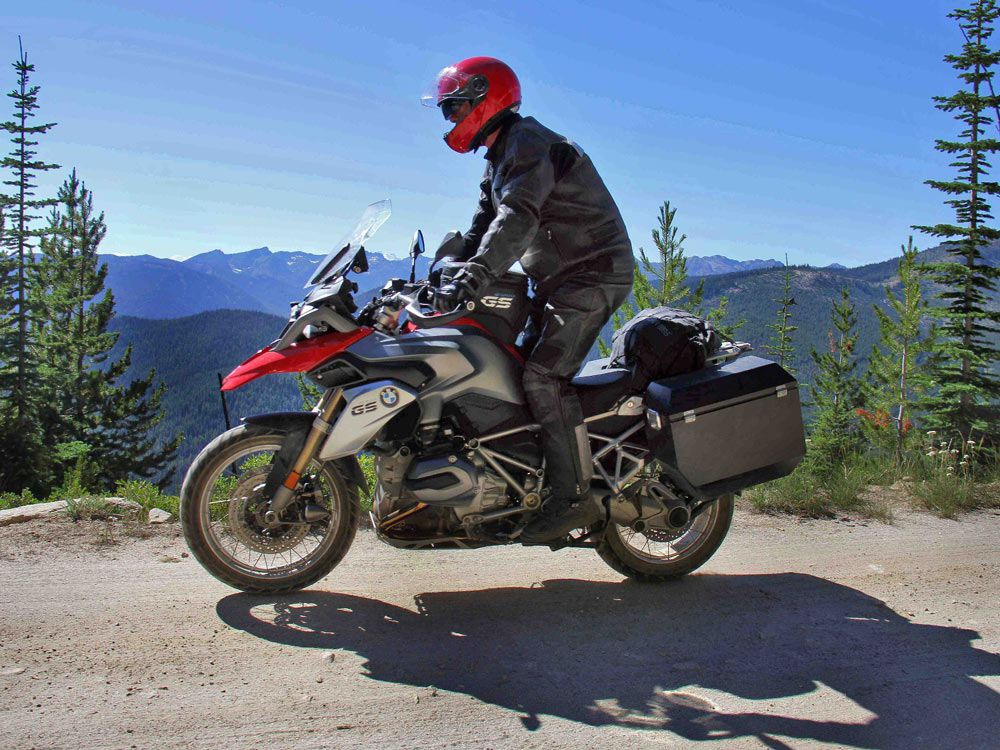 <strong>Rush Drummer Neil Peart:</strong> The Rush drummer took to the streets on his BMW motorcycle between shows for Rush's 30th anniversary tour. Peart covered 21,000 miles and rode through 19 countries. Here he is riding in Washington state's Shady Pass.