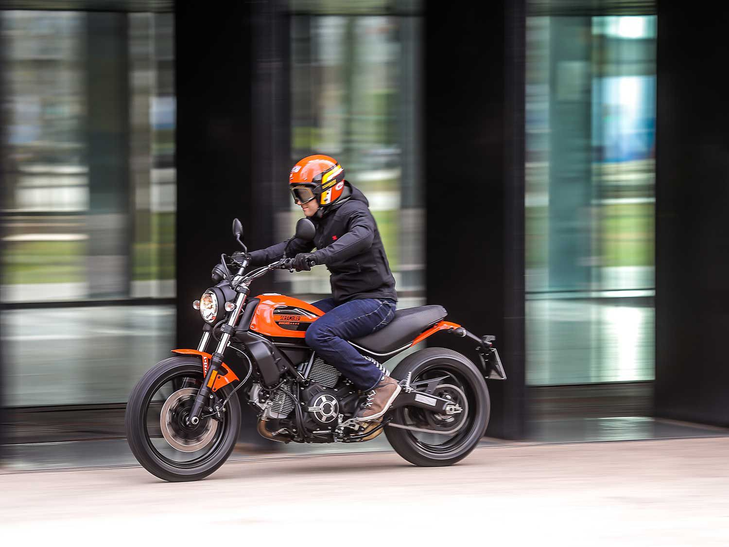 The Ducati Scrambler Sixty2 has unmistakable style.