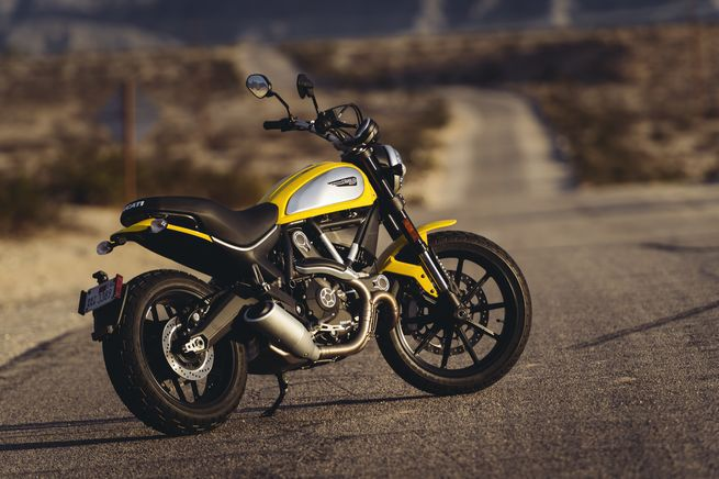 <strong>Ducati Scrambler</strong> <br /> A little taller than most, the stock seat height on a Ducati Scrambler is 31.1 inches, but a low seat accessory reduces that to 30.3 inches.