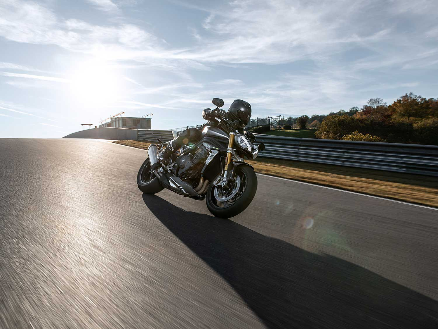 Engineers were able to shave 22 pounds from the Speed Triple.