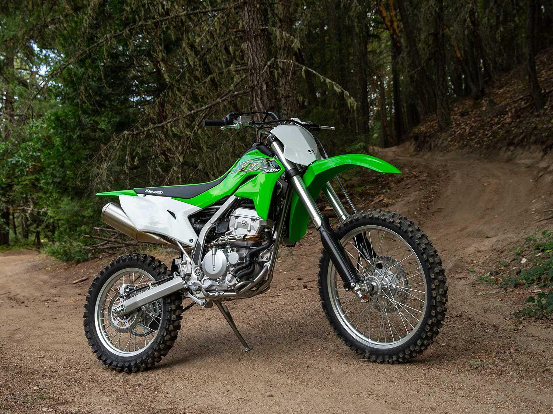 Kawasaki's KLX300R has its own small niche in the dirt bike world.