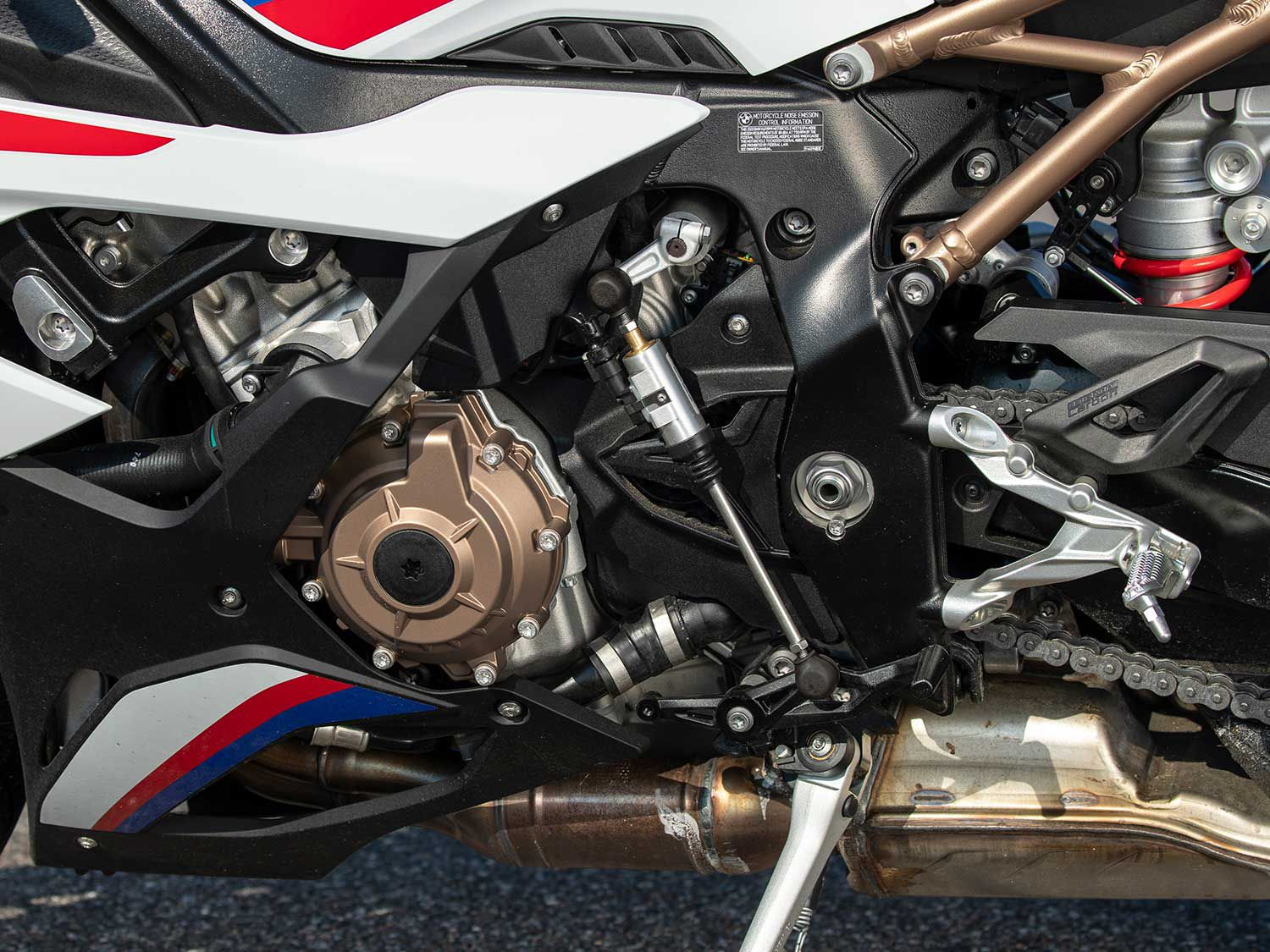 The 999cc inline-four has been completely reengineered. It is not only lighter but more powerful in terms of horsepower.