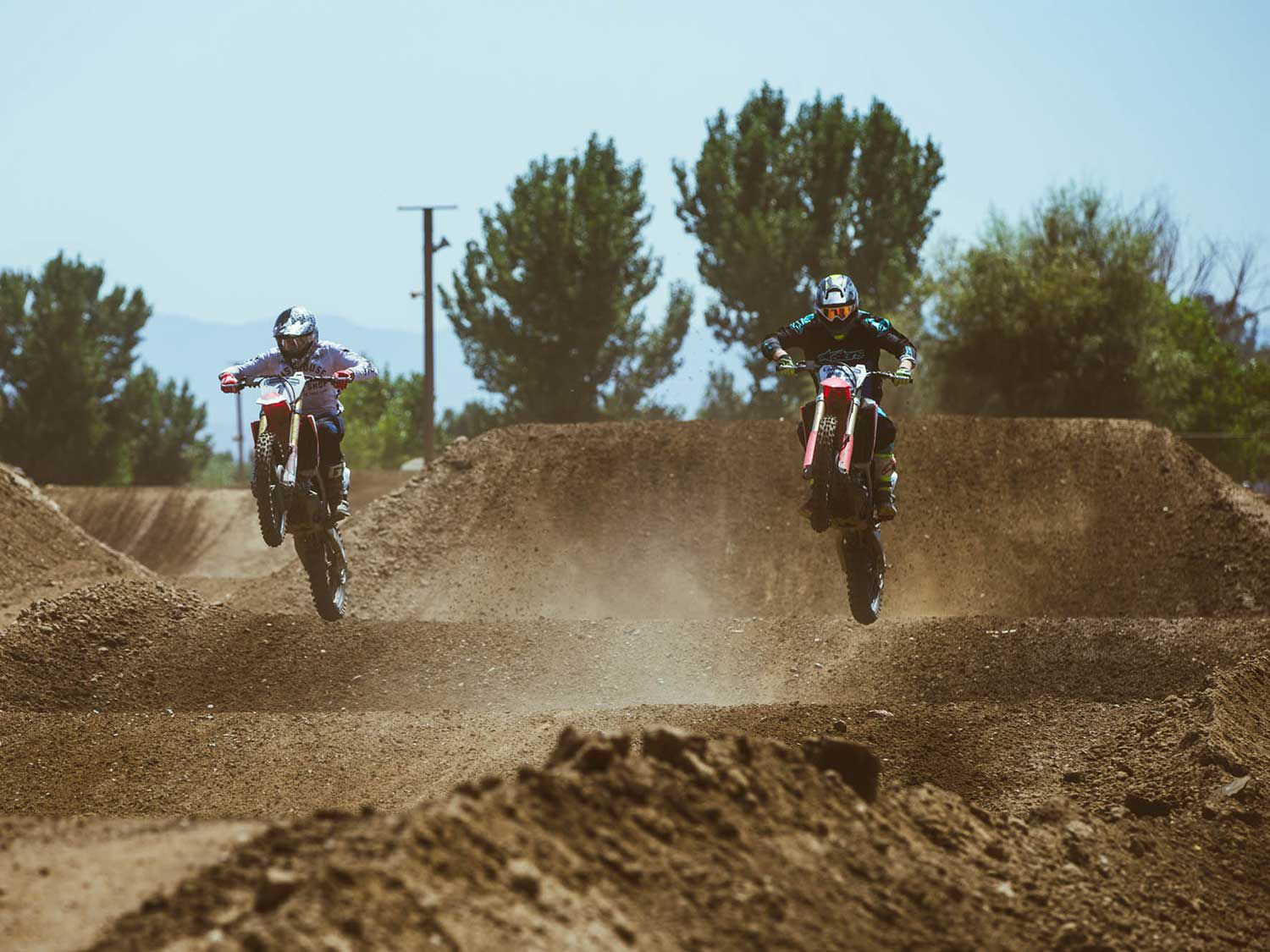 Local pro Ford Heit adds a bit of style during the moto day at Milestone Motocross Park.
