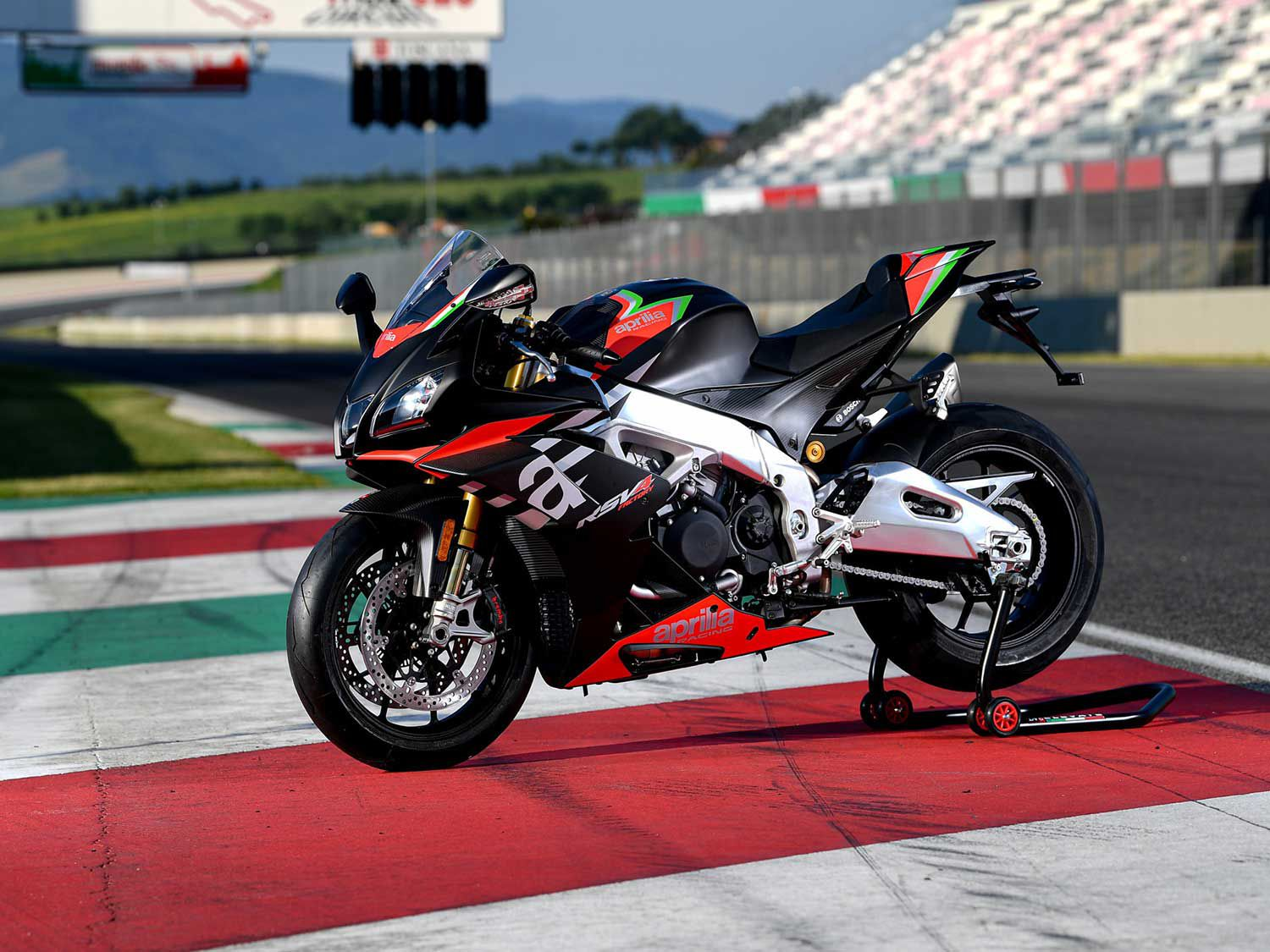 The Aprilia RSV4 1100 Factory is priced at $25,499, but packs one serious punch in terms of literbike performance.