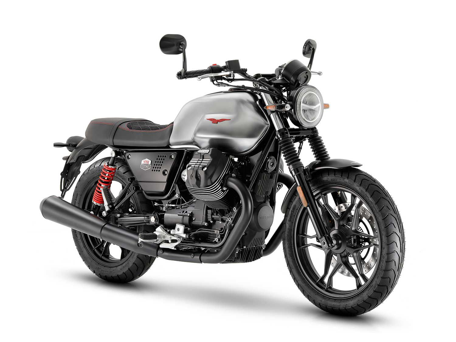 Only 750 examples of the Stone S will be produced for 2020, an ode to its 744cc transverse twin engine that's been powering Moto Guzzis for decades.