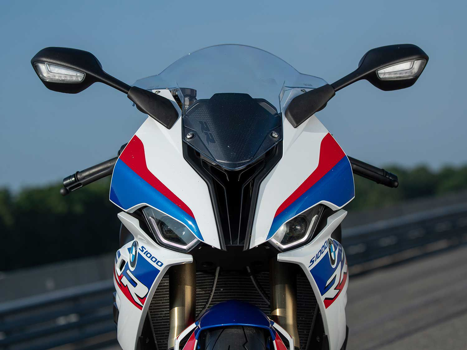 "BMW engineers nailed the styling of the 2020 S 1000 RR. We appreciate its symmetrical face that features styling cues from its predecessor. <a href=""https://www.motorcyclistonline.com/2020-bmw-s-1000-rr-first-ride-review/"">Read the full review »</a>"