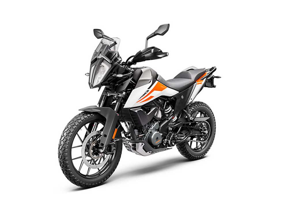 The 390 Adventure is decked with features typically seen on larger machines.