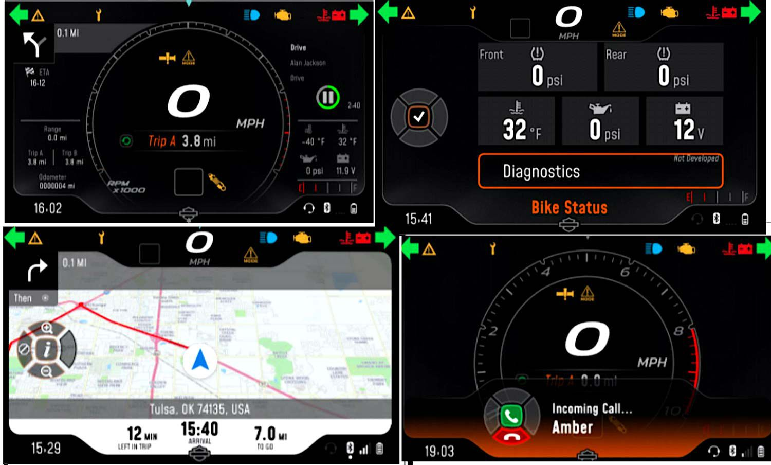 The 6.8-inch TFT instrument panel will have a variety of information display options.