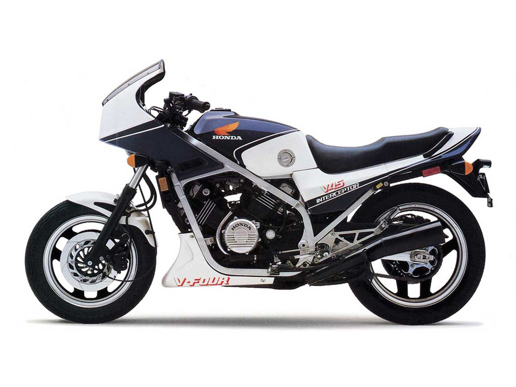Along with the first-gen Suzuki GSX-R750, the Honda Interceptor, in many ways, is the first iteration of the modern sportbike.