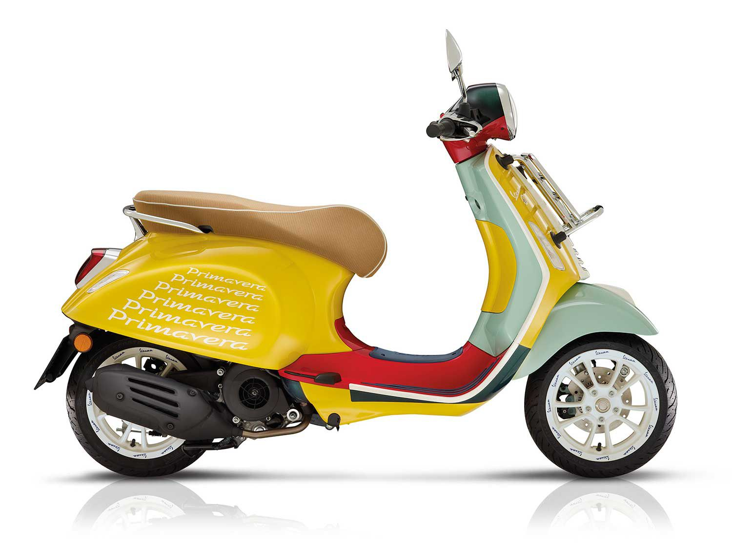 <h2>2020 Primavera Sean Wotherspoon Edition</h2> </br> Want a pop of color? This Primavera Sean Wotherspoon edition is the result of a partnership between Vespa and designer Sean Wotherspoon.