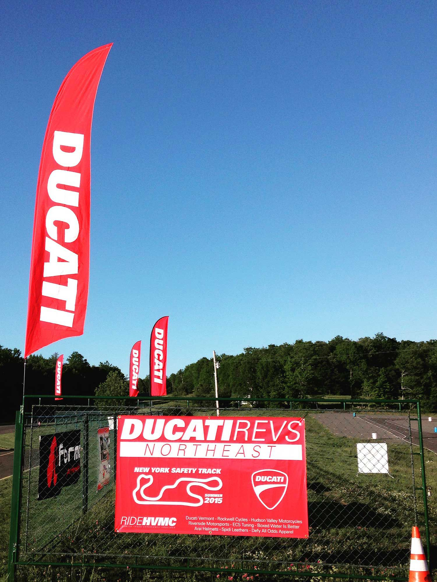 You'll get professional instruction and the chance to demo new Ducati motorcycles.