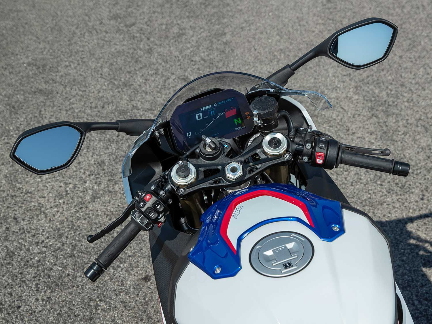 The S 1000 RR's cockpit is more civilized and accommodating for most riders.