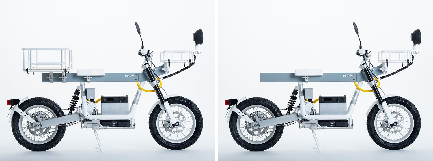 <strong>Left:</strong> Racks, lights, seats, and more on the Ösa. <strong>Right:</strong> Capable of on-road and light off-road duty.