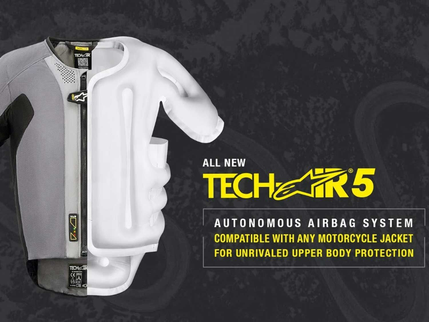 The new Alpinestars Tech-Air 5 can be worn under any appropriate ride garment.