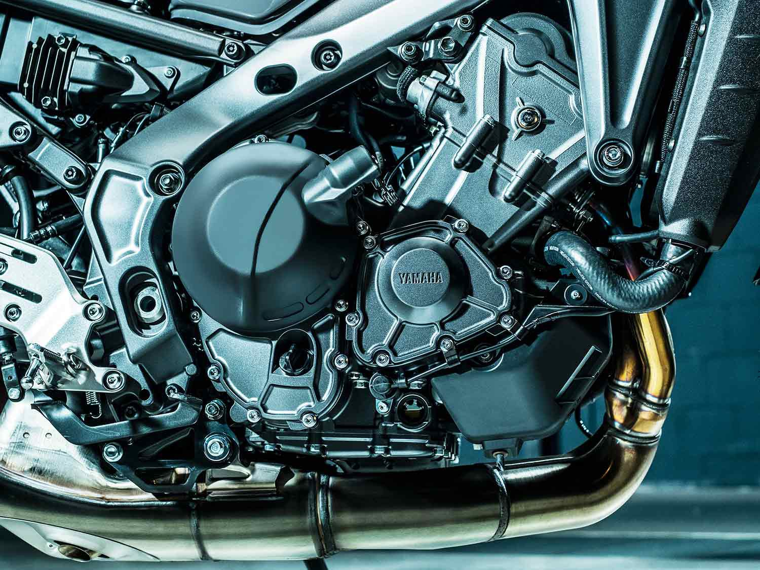Yamaha gives you more engine, with a brand-new 890cc crossplane-crank triple.