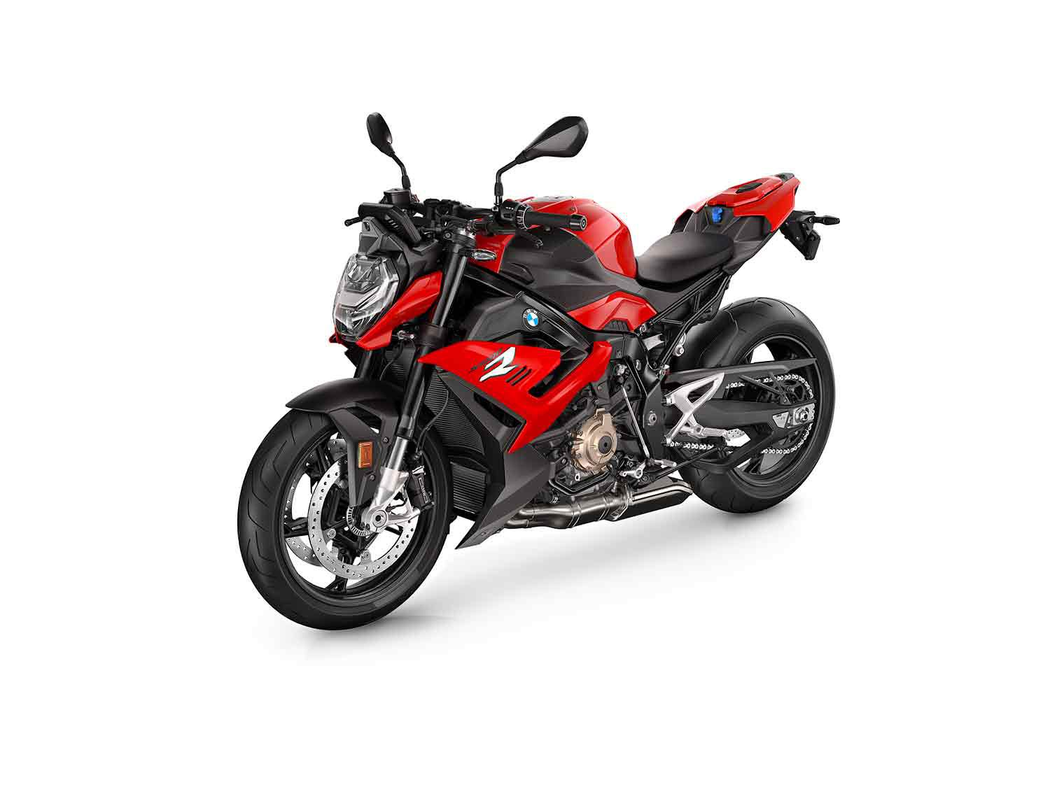 2021 BMW S 1000 R in Racing Red colorway.