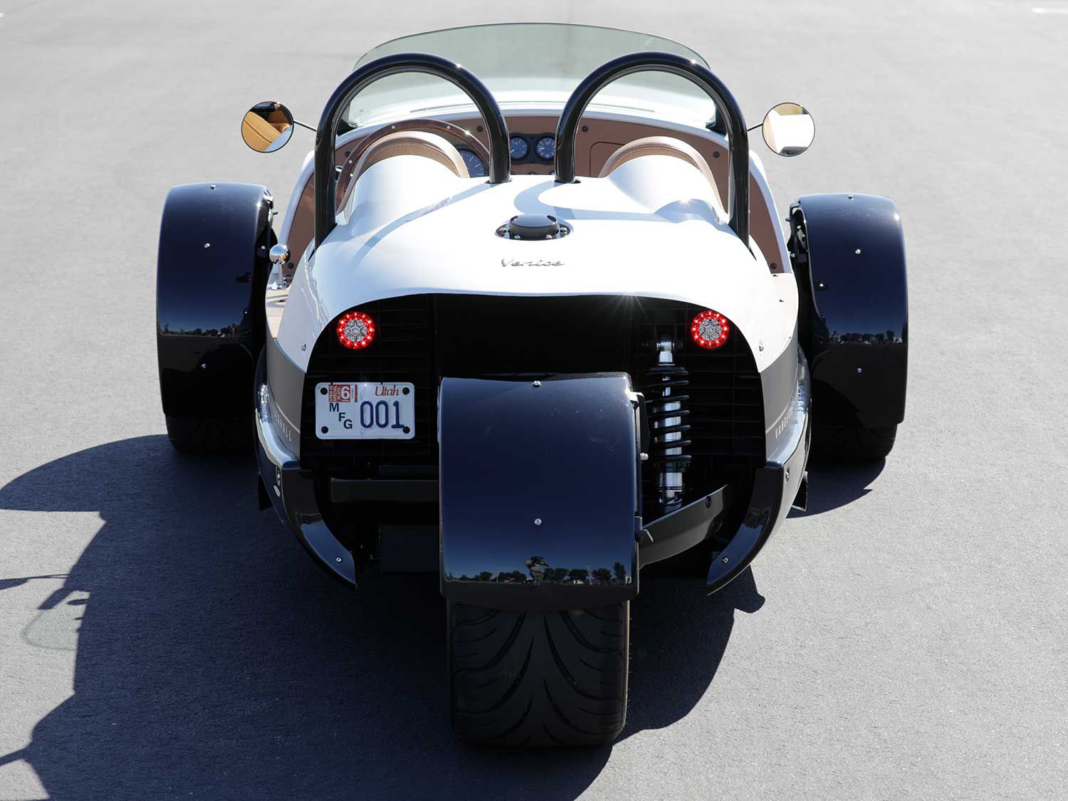 As opposed to other autocycles, the Venice GT is front-wheel drive with a 75/25 weight distribution.