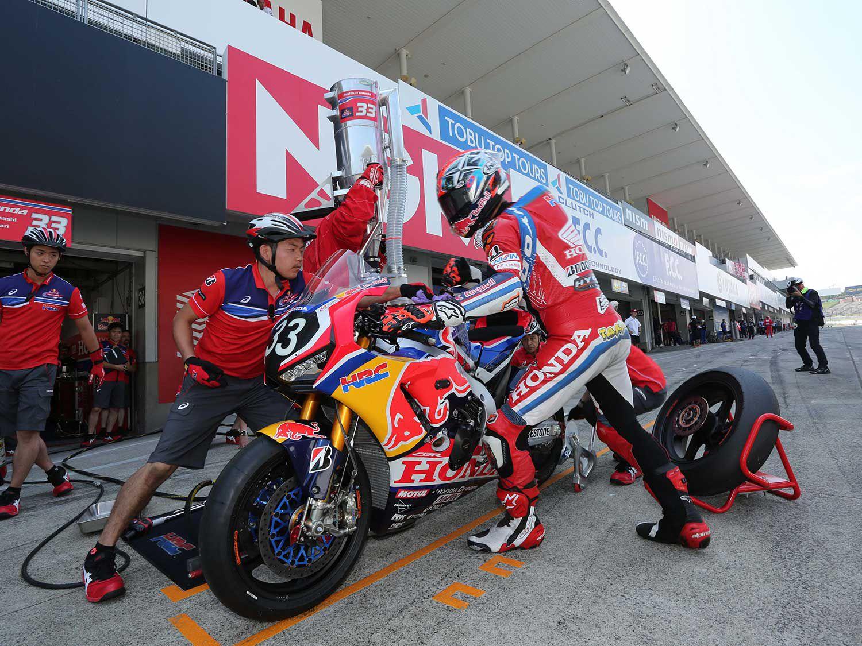 Red Bull Honda took third place in the Suzuka 8 Hours.