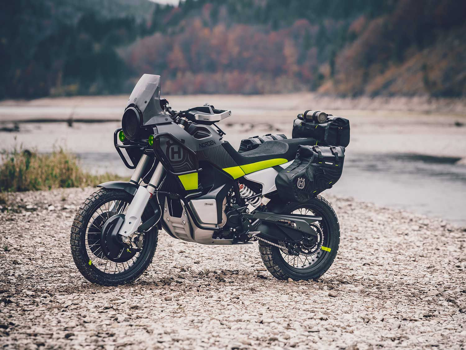WP suspension and off-road-biased design suggest a thoroughly capable adventurer.