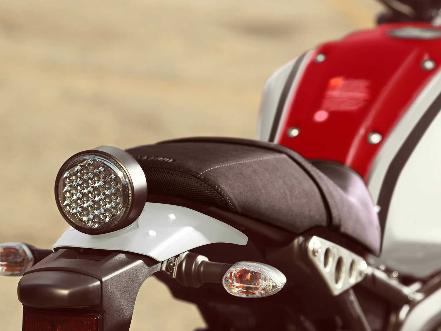 That classic round Yamaha taillight is all LED.