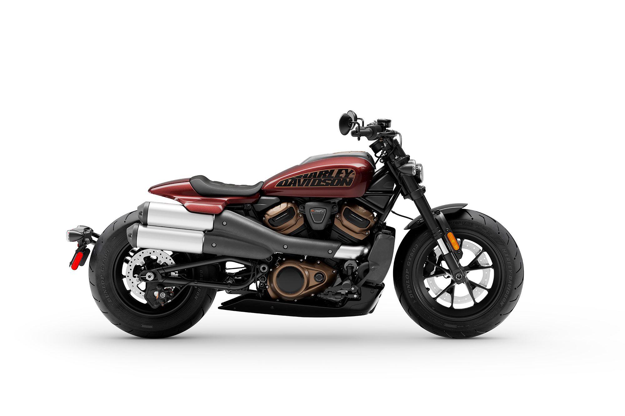 2021 Harley-Davidson Sportster S in Midnight Crimson.