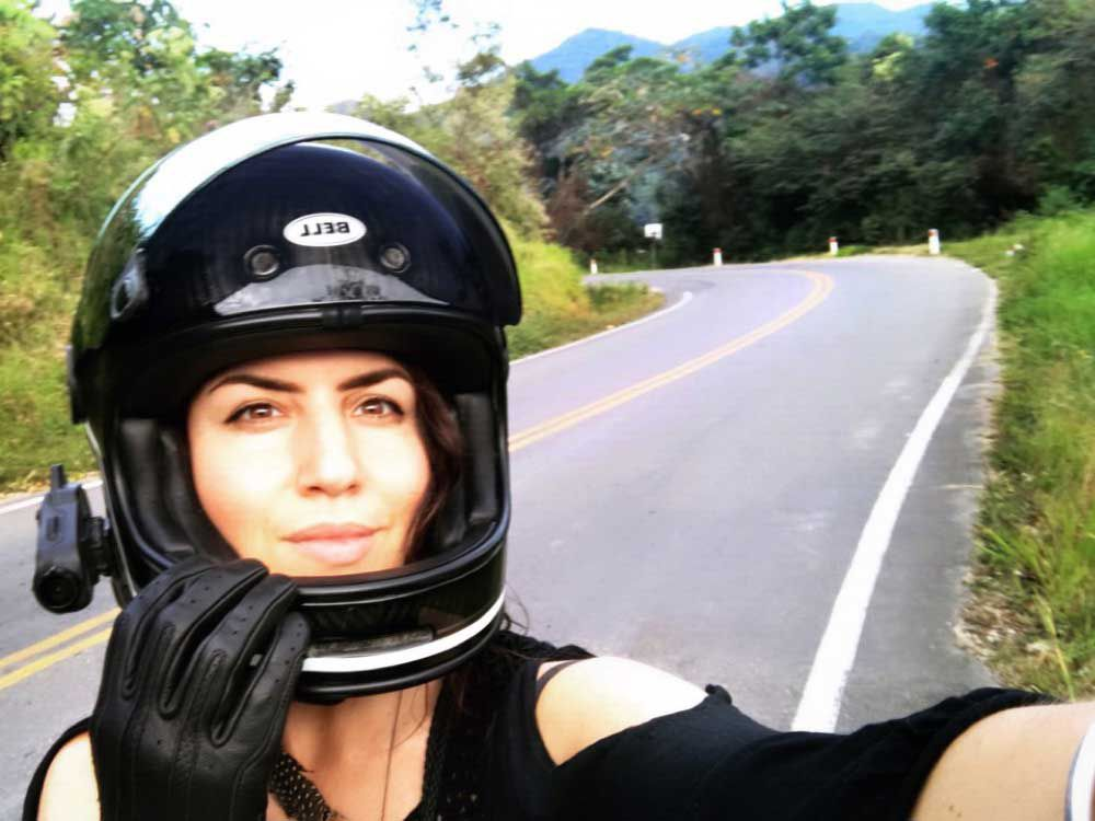 As a woman traveling solo, I've come to recognize that having a camera mounted on my helmet has added a bit of safety, as once people notice it, it seems to put them on their best behavior.