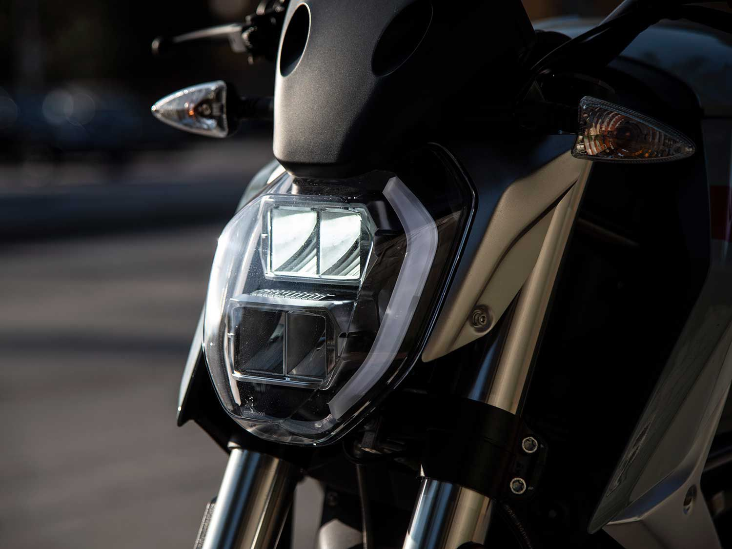 LED headlamps light the way while cutting down on battery depletion.