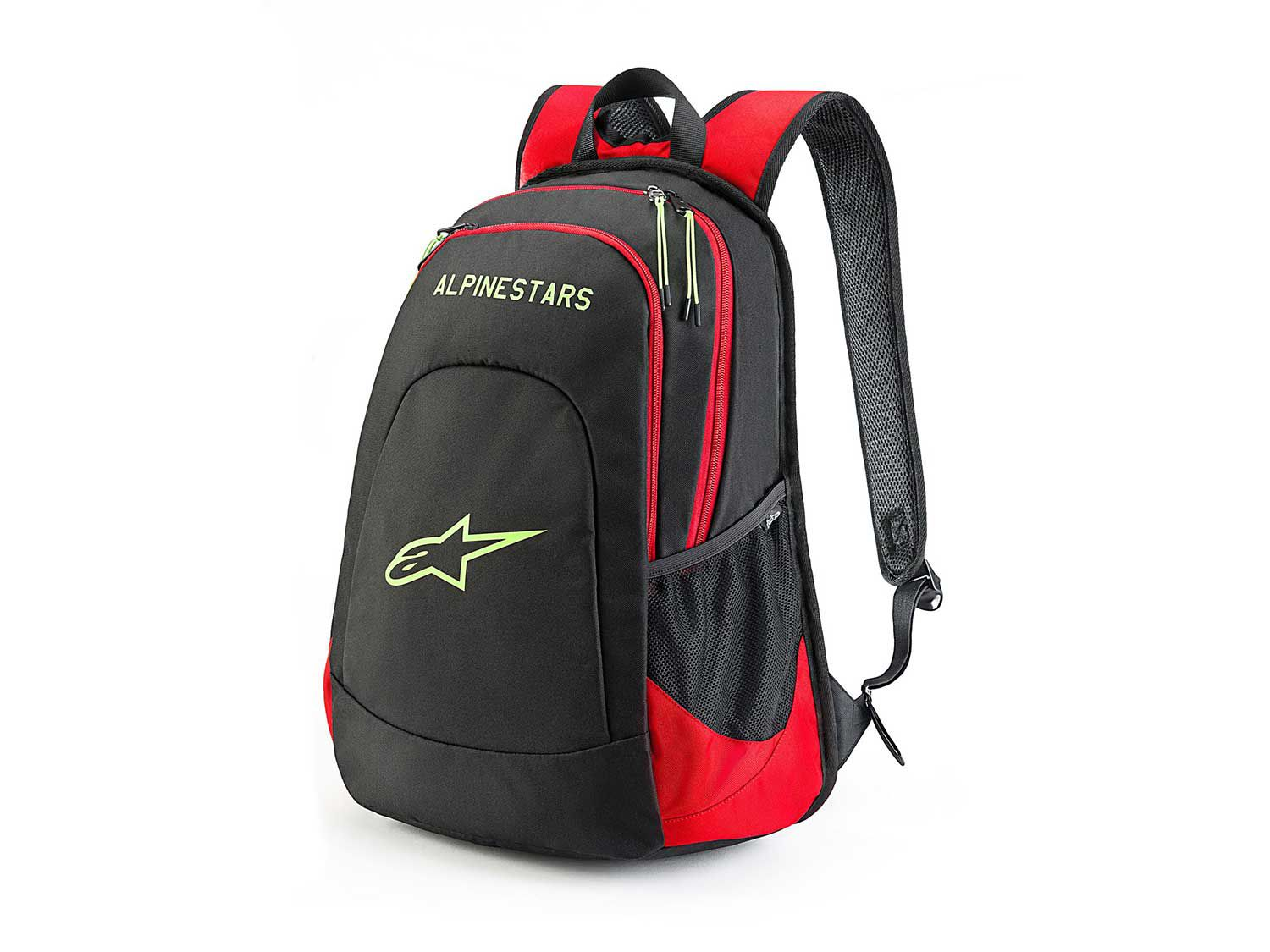 """The <a  href=""""https://www.amazon.com/ALPINESTARS-DEFCON-Backpack-black-White/dp/B07NGZYPZ4/ref=as_li_ss_tl?ie=UTF8&linkCode=sl1&tag=mcy01-20&linkId=76ab7ee71f2464a8133e394b4815d40f&language=en_US"""">Defcon Backpack</a> is better equipped for riding use thanks to its 600-denier polyester construction. It's also built with a laptop sleeve and internal organization pockets, has side mesh water bottle pockets, and a padded back panel and shoulder straps. It'll provide you with a total of 13.45 liters of carrying capacity."""
