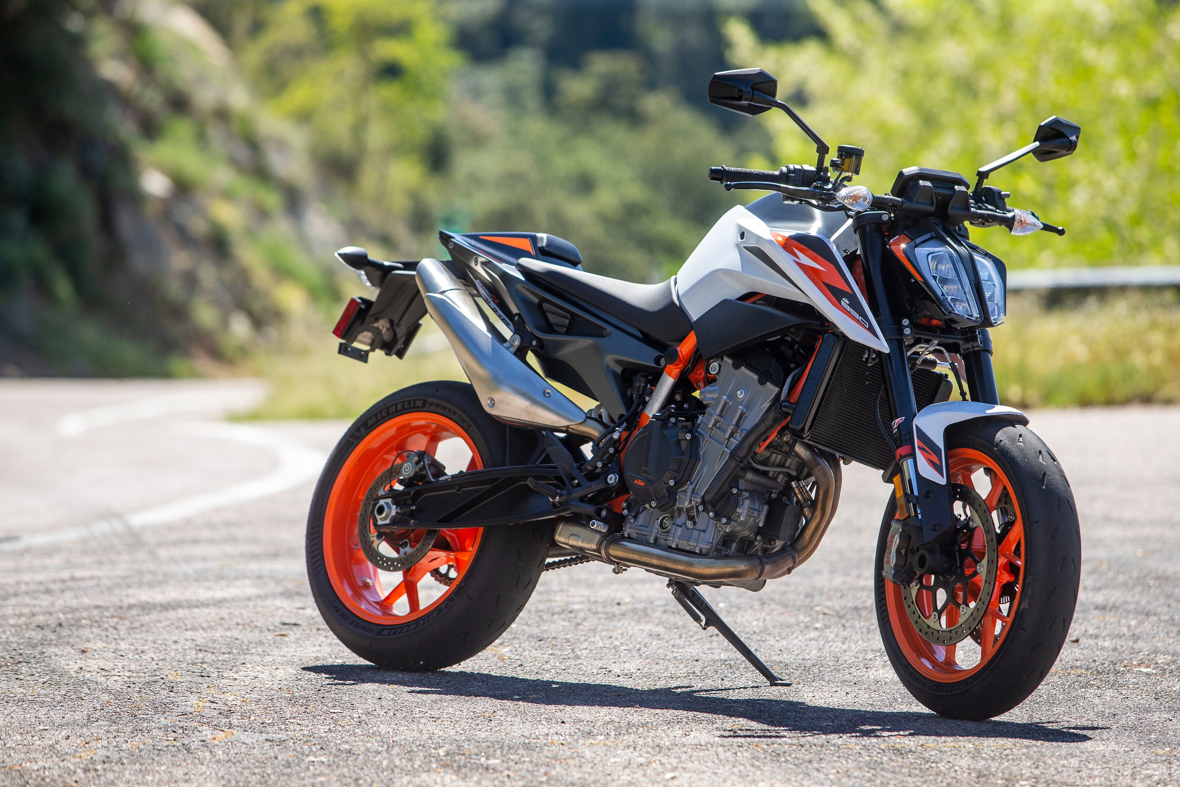 The 890 Duke R is impressive from any angle. Our only gripe is the mechanical function of its slipper clutch.