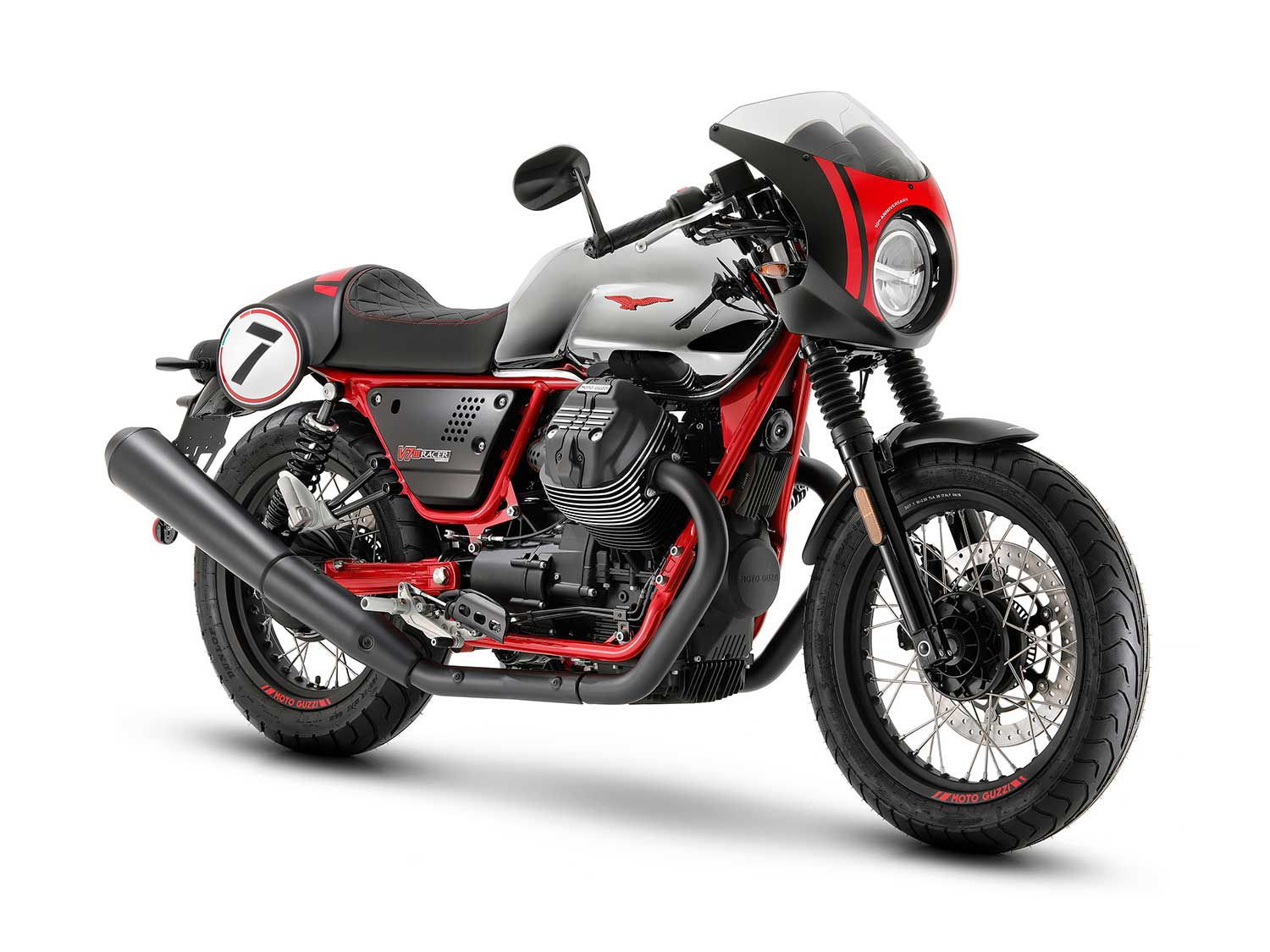 <h2>2020 Moto Guzzi V7 III Racer 10th Anniversary</h2> </br> The sporty member of the V7 family celebrates its decade of life with the 2020 Moto Guzzi V7 III Racer 10th Anniversary.