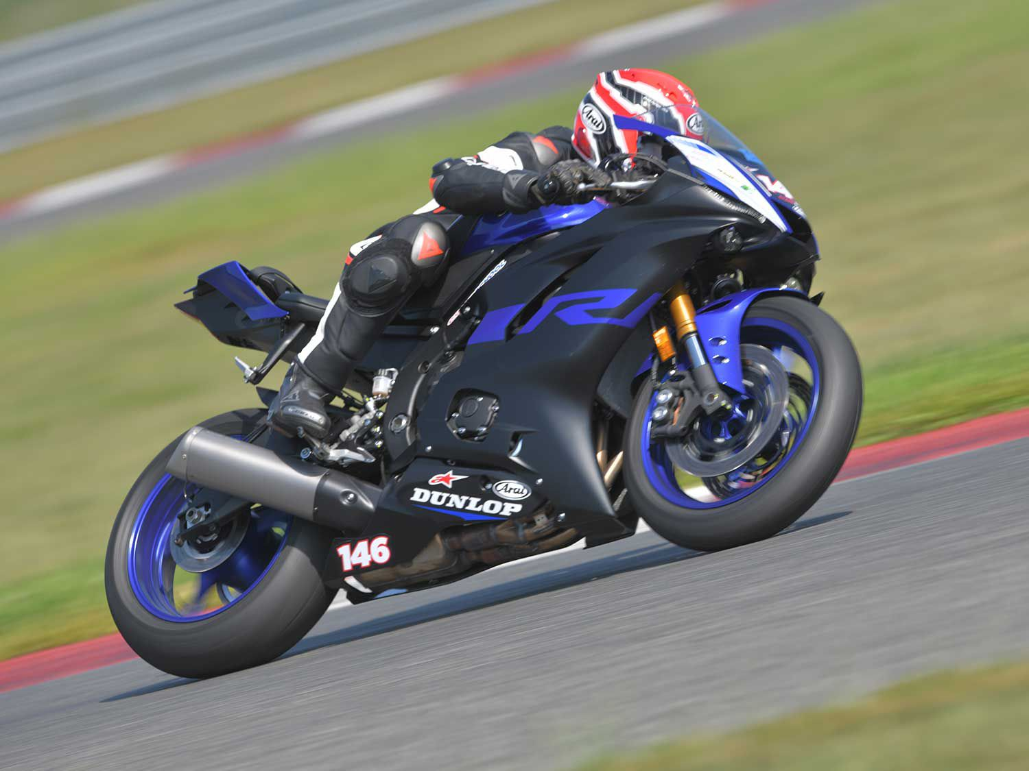 The Yamaha YZF-R6 is a great bike to learn on, though it's pretty cramped. Taller riders will likely struggle to move around on it.