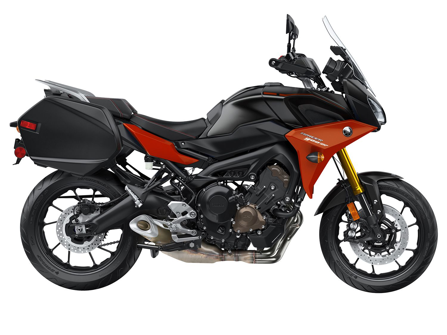 Yamaha's most up-to-date sport-tourer, the Tracer 900 GT is the sportiest machine here as well as the most affordable.